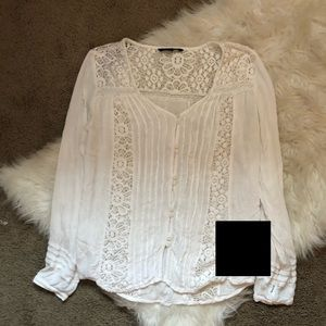American Eagle Outfitters Tops - American Eagle Peasant Button Up Blouse